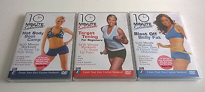 Job Lot Bundle Of 3 Exercise Fitness Dvd 10 Minute Solution New & Sealed