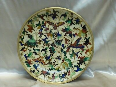 Estate Found Rare Robert Kuo Japanese Cloisonne Enamel Butterfly Floral Plate