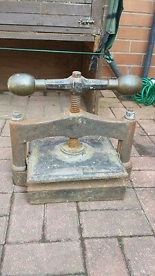 Vintage Cast Iron Press With Brass Handles