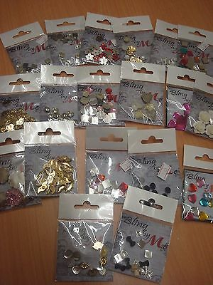 Bling By Me Craft Embellishments (10 Packs Per Order)