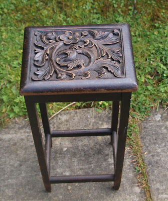 Victorian Carved Wooden Plant Stand Or Small Table