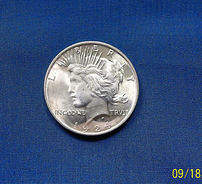 1924 P U.S. Peace Dollar 90% Silver Not Cleaned Free Shipping!
