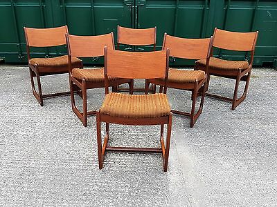Vintage Retro Set of 6 Portwood Style Teak Dining Chairs (Delivery Available)