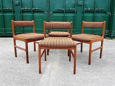 Vintage Mid Century McIntosh 9943 Teak Dining Chairs x4 (Delivery Available)