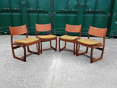 Vintage Retro Portwood Quadrille Teak Dining Chairs x 4 (Delivery Available)