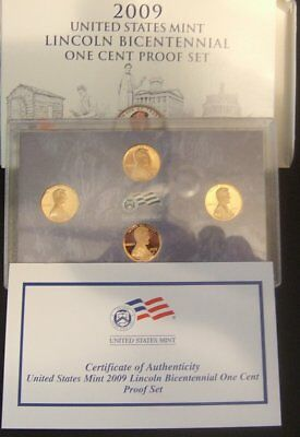 2009-S Lincoln Cent 4 Coin Mint Bicentennial Proof Set
