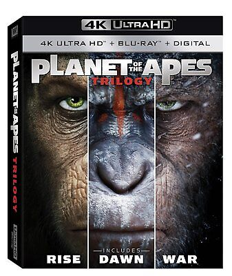 PLANET OF THE APES TRILOGY    (4K ULTRA HD) - Blu Ray -  Region free
