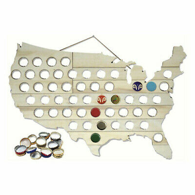 Mark Feldstein USA Beer Cap Map