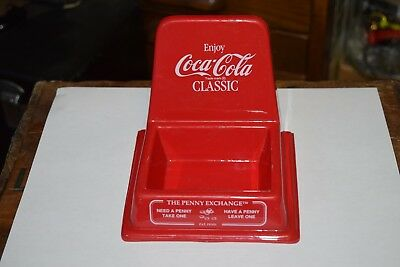 Vintage Advertising Coca Cola The Penny Exchange Store Counter Plastic Coin Tray