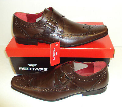 RED TAPE Hammond Men's Leather Brown Brogues Wedding Formal Shoes New Sizes 8-11