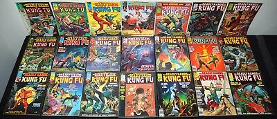 1974 Curtis Marvel Magazine Deadly Hands Of Kung-Fu #3-29 Lot Mid-High Grade M3