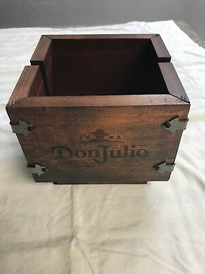 Don Julio Tequila Wood Box Wooden Barware Liquor Advertising Napkin Holder
