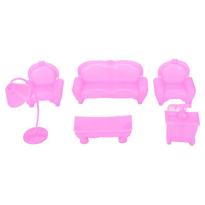 Children Toy Case for Barbie Dream House Mini Furniture Sofa Set Accessories GT
