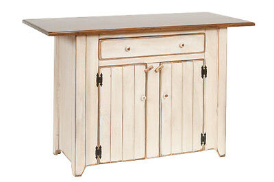 Primitive Country Kitchen Island - Counter Height - Amish Made in USA