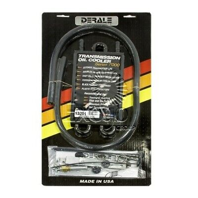 Derale Transmission Oil Cooler Kit - Universal Fit 4 Pass 320x130mm