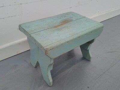 vintage retro shabby chic wooden milking stool