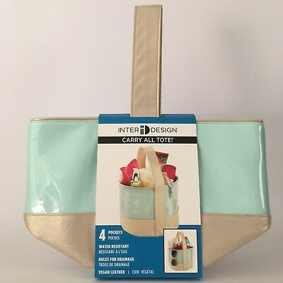 New Ladies Leather Toiletry  Cosmetics Organiser Bag for use Shower Bath Pool