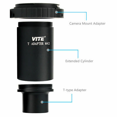 "VITE 1.25"" Extension Tube M42 T-Mount Adapter+T2 Lens Ring for Telescope, Nikon"