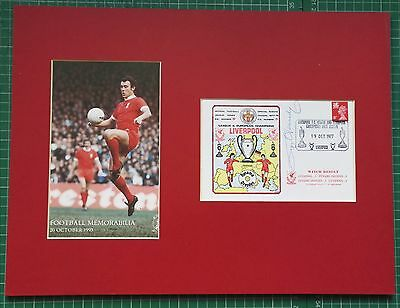 "RAY KENNEDY - LIVERPOOL & ENGLAND - SIGNED DISPLAY (FDC 1977) & PHOTO 16"" x 12"""