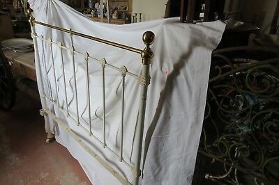 Antique Genuine Victorian Brass & Iron Double Bed
