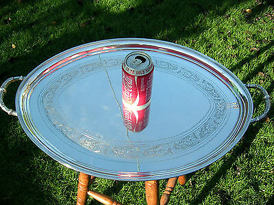 English Hallmarked Solid Silver Butlers Tray  Large and Heavy W & H 1939