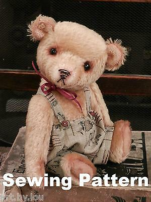 "Pattern and instructions to make 'Lonnie' - 8"" teddy bear"