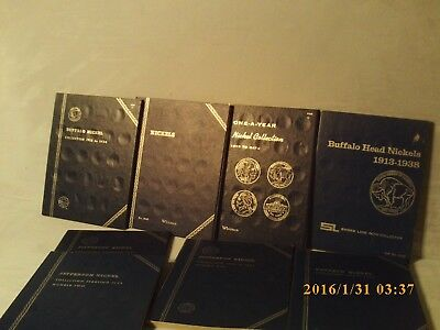 Blue Tri-Fold Coin Folders  8 ASSORTED NICKELS-COMPLETE LIST IN DESCRIPTION