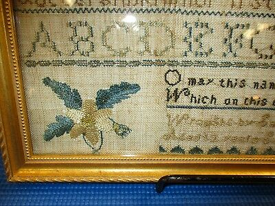 Antique American Hand Done Sampler, Southboro, Ma.