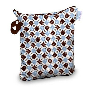 Thirsties Cloth Diaper Wet Bag w/ Wristlet - Scottish Storm