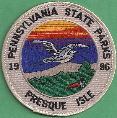 Pa Pennsylvania Fish Game Commission RARE 1996 Presque Isle Pa State Park Patch