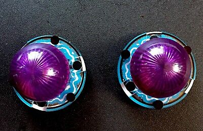 TWO 2 New Williams Monster Bash Pinball Purple Dome Light Assembly Plastic Parts