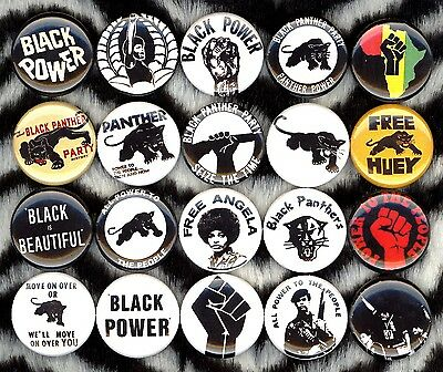 Black Panther Party button 20 NEW power Free Huey Newton pins black lives matter