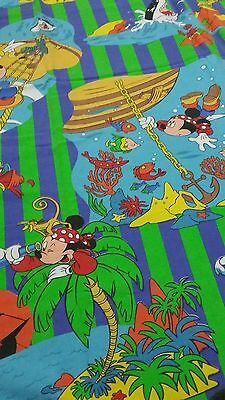 Disney Bettwäsche rar vintage bedding set Mickey Mouse Maus pirate Pirat 80s 90s
