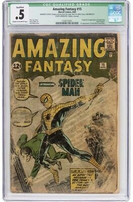 Amazing Fantasy #15 (1962, Marvel) Affordable Low Grade CGC 0.5 Free Shipping!!!
