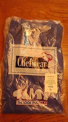 Chefwear Three Star Short Sleeve Button Jacket XL extra large Dominos Pizza logo