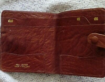 Genuine Vintage wallet real leather. Made in England.