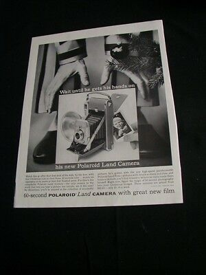1955 polaroid magazine print ad christmas land camera ad