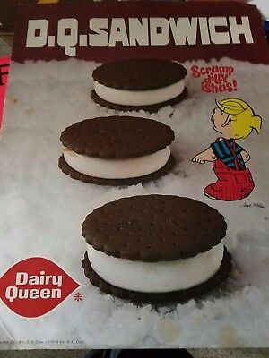 Vintage 1974 Dennis the Menace - Dairy Queen window sign