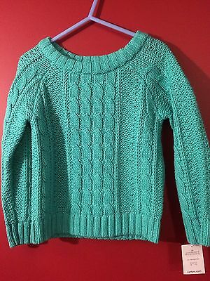 CARTER'S Girl's Turqouise Knit Sweater - Size 2T - NWT