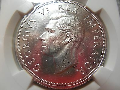 1947 South Africa 5 Shilling / NGC MS-61/REDUCED!
