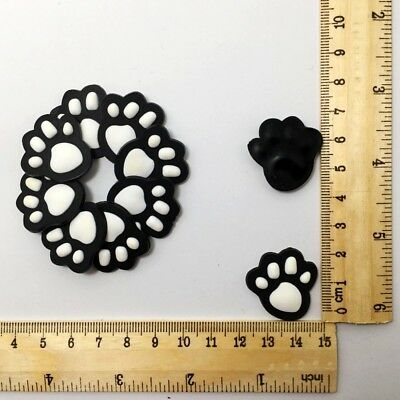 White Dog Print Flatback PVC Charms Craft Decoration For Album Book/Clips 10pcs
