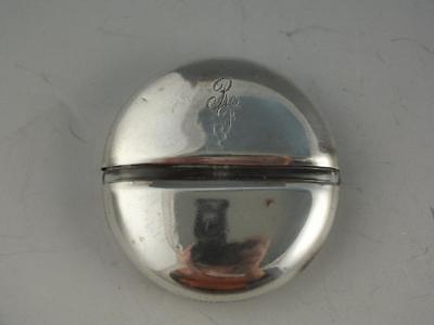 Vintage Mary Dunhill Sterling Silver And Glass Perfume Bottle