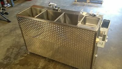 X-Large Portable Self Contained 4 Compartment Sink ,  Food Truck Or Trailer
