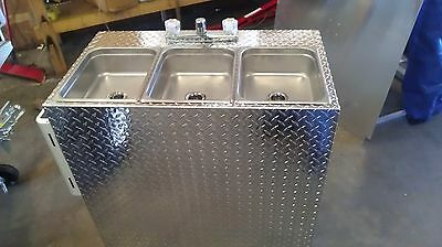 Portable Self Contained 3 Compartment Sink , Food Truck / Trailer  Hot Water