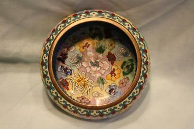 Fine Quality Chinese Millefleurs Cloisonne Bowl with Ruyi Border 20thC EXC