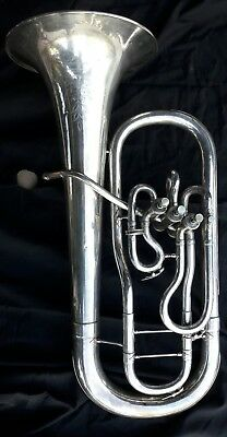 Antique Vintage Lyon and Healy tuba 1913 Herco Mouthpiece