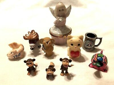 Vintage Lot of Mixed Items:Figurines, Precious Moments,Trinket & More
