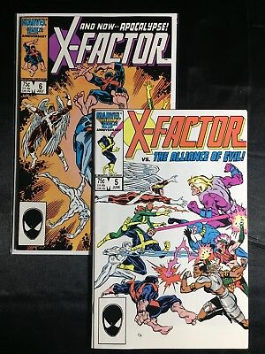 Lot-2 X-Factor #5 #6 VF/NM (1986,Marvel) 1st appearance Apocalypse Free Shipping