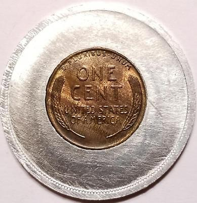 Encased Nice 1927 WHEAT Cent Token unfinished sample ? FOUNDATION FORTUNE Lucky