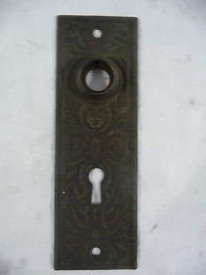Antique Victorian Door Plate - Circa 1885 Very Ornate Architectural Salvage